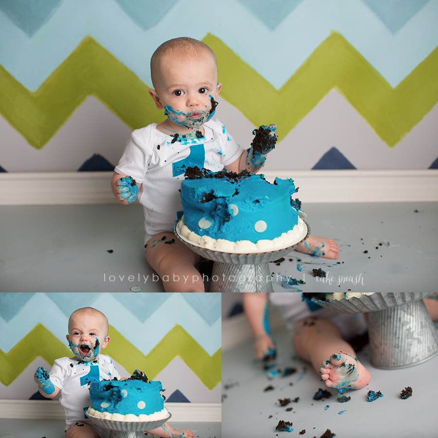 roseville cake smash boy studio photography 4