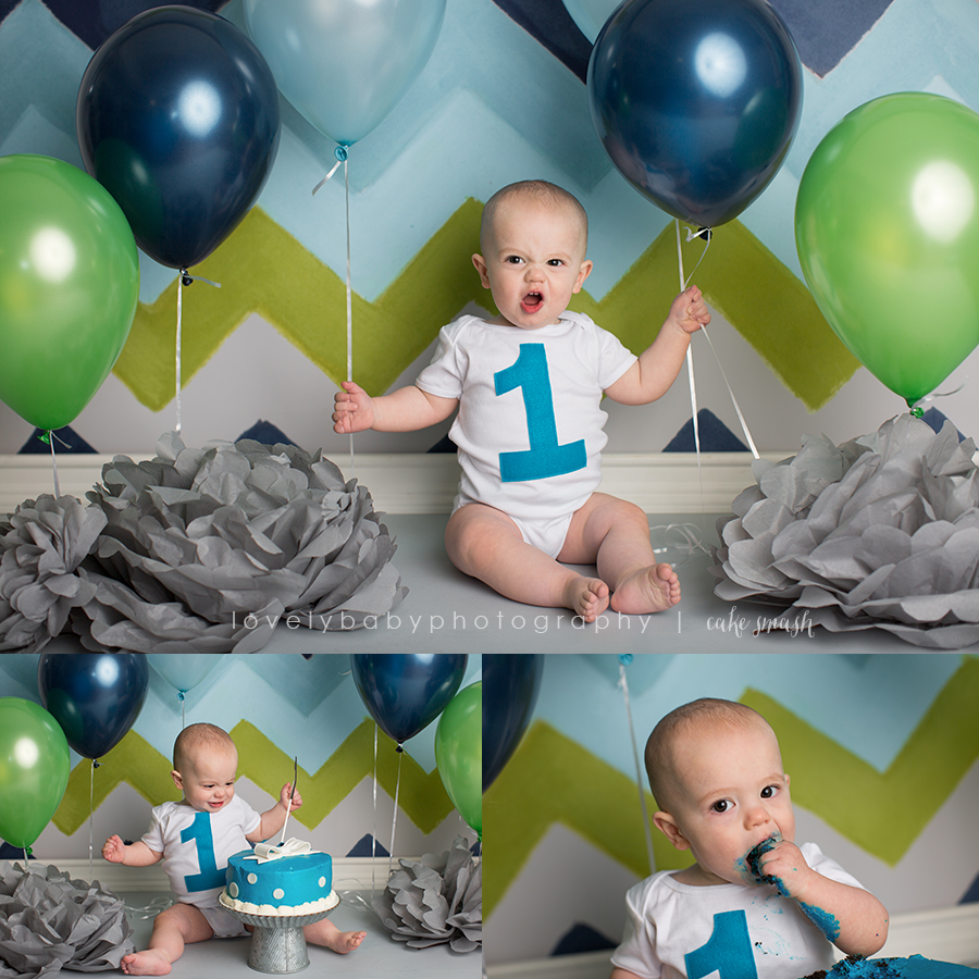 sacramento first birthday cake smash baby boy photography 3