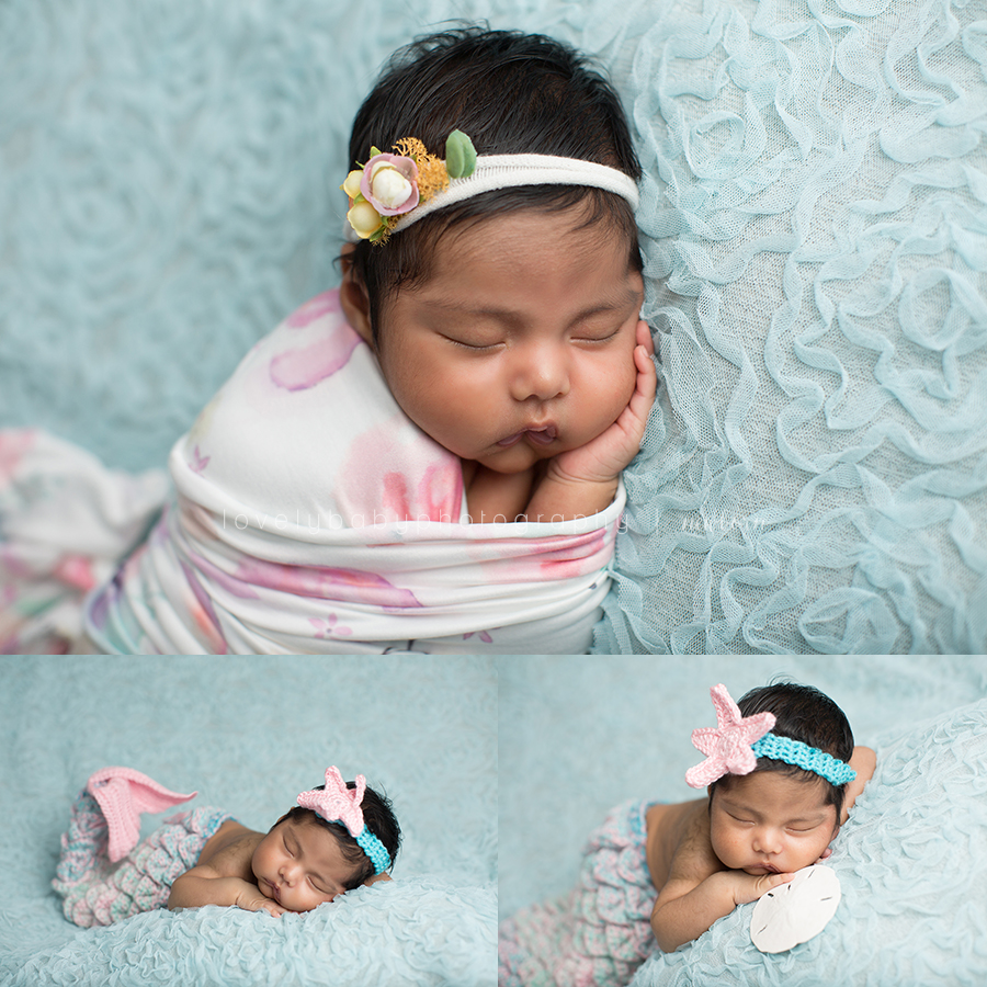 2 newborn mermaid photography