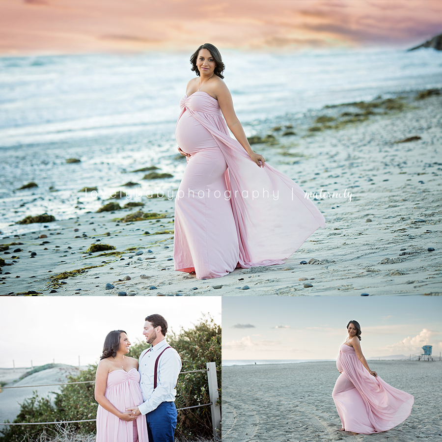 2 san diego beach maternity photography