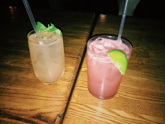The pink drink was my watermelon margarhetta