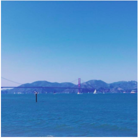 Snapshot of the Golden Gate Bridge at Kirby Cove