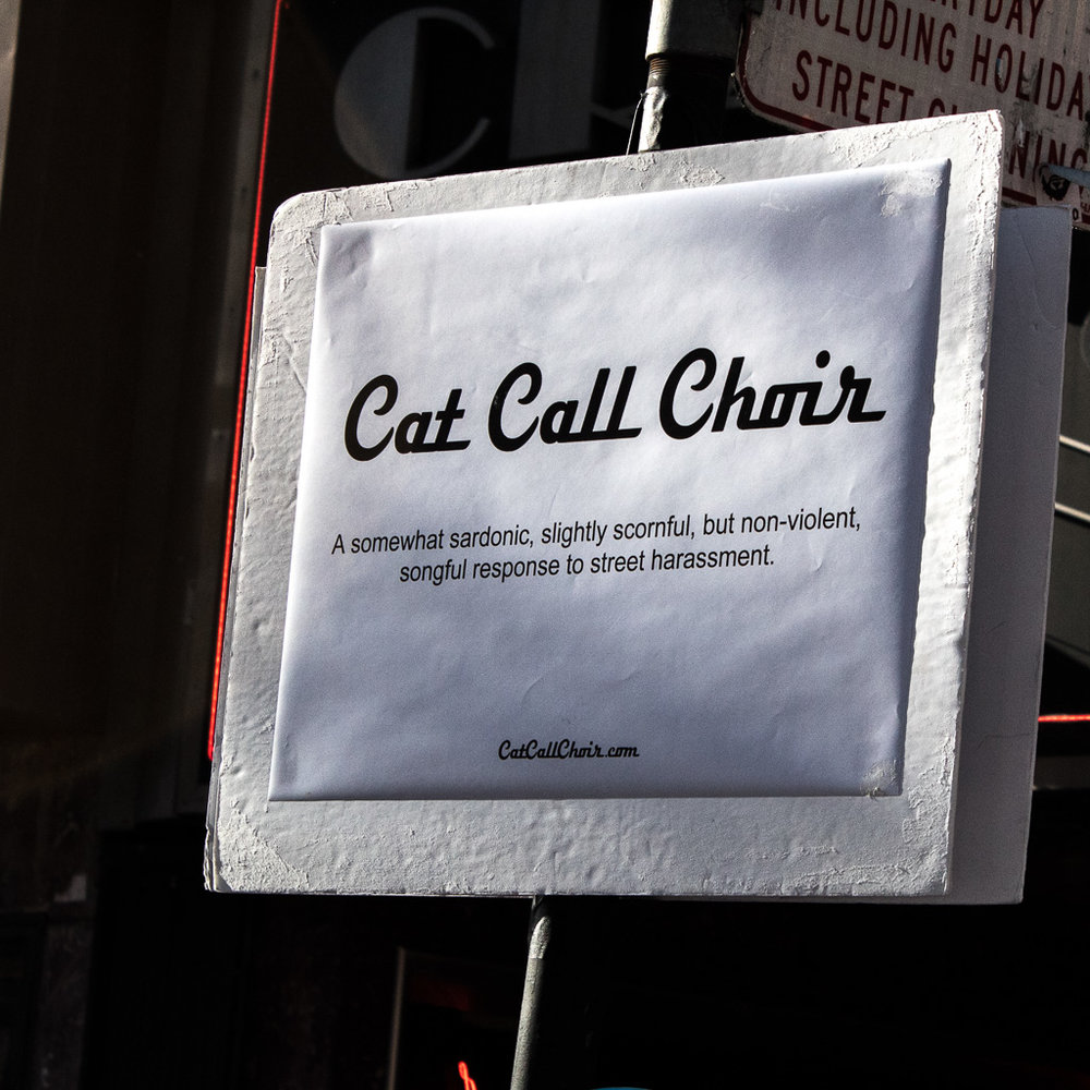 "A choir group was standing on the side, singing/""cat calling"" to us."