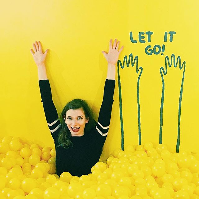 Happy Saturday from the most excited adult female in the ball pit. Had the lucky opportunity to visit @colorfactoryco and take a colorful adventure. This was probably one of the best rooms! ❤️ 🧡 💛 💚 💙 💜 #thecolorfactory #exploresanfrancisco #sf #sanfrancisco #color #yellow #rainbow #weekend #saturday #joy #happy #kid #letitgo #beallright