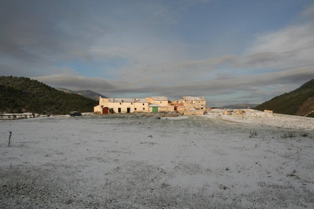 Los Gázquez en ruinas en el invierno de 2009.