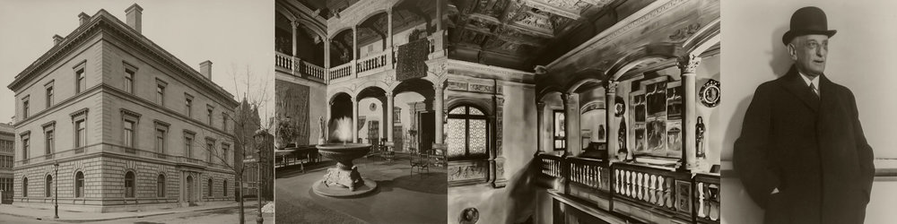 La vivienda de Blumenthal en Nueva York en la década de 1930. Se puede observar el Patio de Honor del Castillo de Vélez Blanco construido en el interior del edificio.