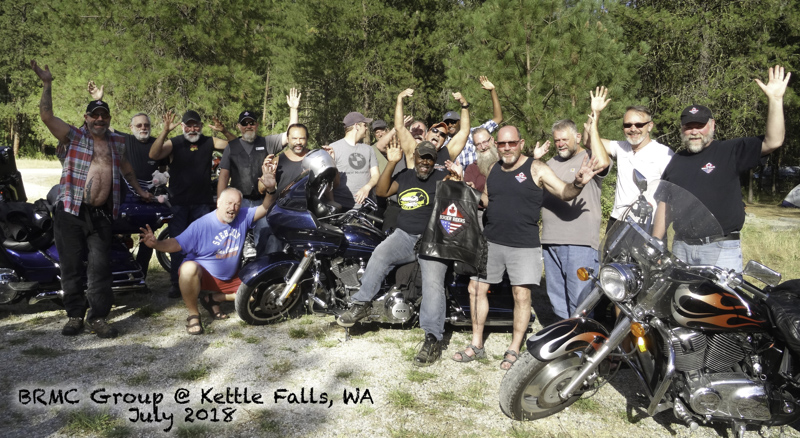 BRMC Group photo - Kettle Falls, WA @ Evans Group Campground