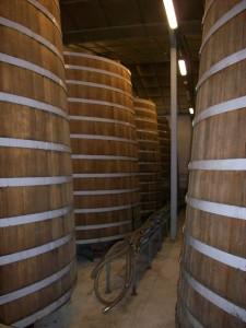 Calvados aging in barrels.