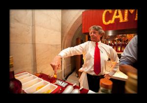 "Gary ""Gaz"" Regan finger stirring a Negroni, courtesy M Booth and Associates"