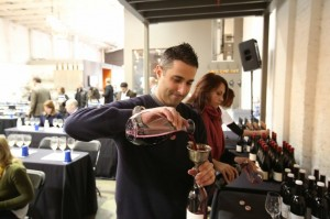 Jamie Kutch, owner and winemaker, Kutch Wines, prepares for the IPOB tasting in February of this year.