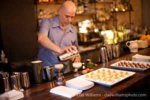 Del Pedro pours the drams at Tooker Alley