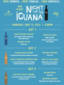 night of the iguana menu