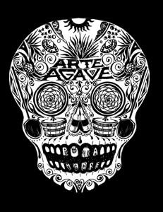 ArteAgaveSkull_WhiteonBlack