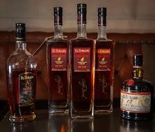 The El Dorado Rum lineup  at the NoMad Hotel Bar