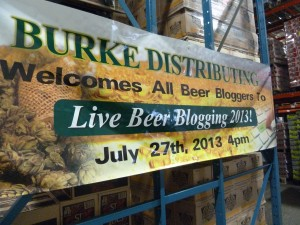 live beer blogging sign