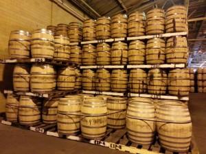 Barrels at A. Smith Bowman distillery, courtesy Keith Allison
