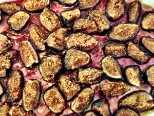 The finished figs in Amaro - definitely have some good bread around to sop up the syrup from the baking dish. Oh, your fingers will do...