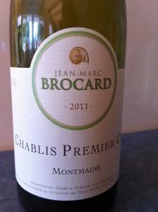 Chablis Jean-Marc Brocard 2012