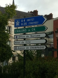 Signs in Epernay, courtesy Christine Campbell
