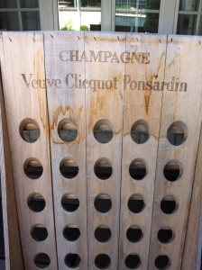 riddling rack at Veuve Clicquot, courtesy Christine Campbell
