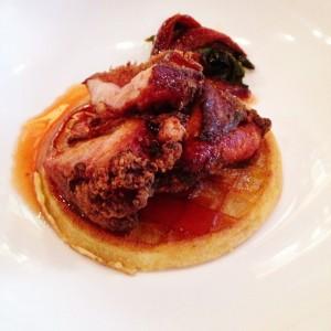 chicken in waffle