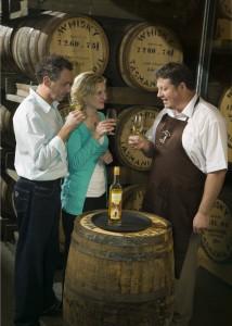Master Distiller Mark Littler teaching a whisky master class at the distillery bond store.