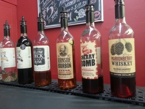 tasting room lineup at Eastside Distilling