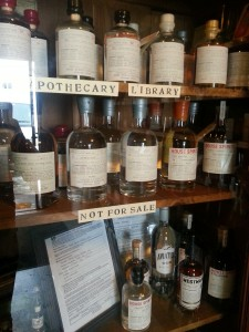 "The ""Apothecary Library"" at House Spirits"