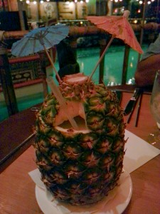 A drink in a pineapple is a must at the Tonga Room!