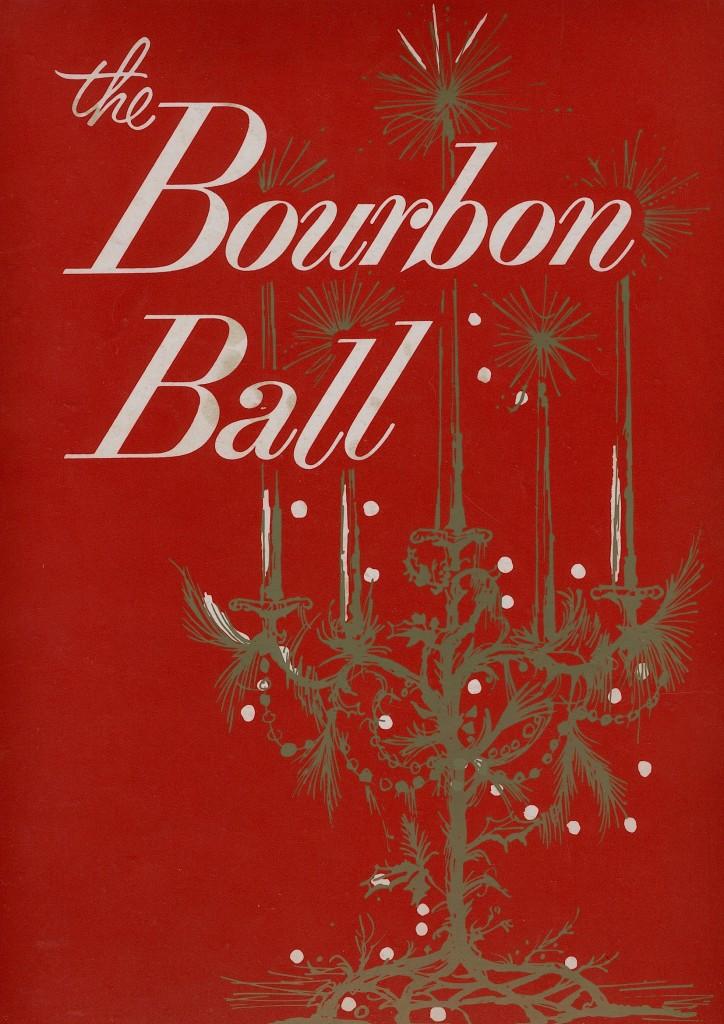 the program for the 1963 Bourbon Ball