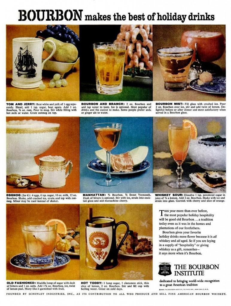 a 1959 Bourbon institute advertisement