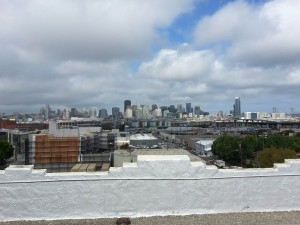 The view from Anchor's rooftop bar