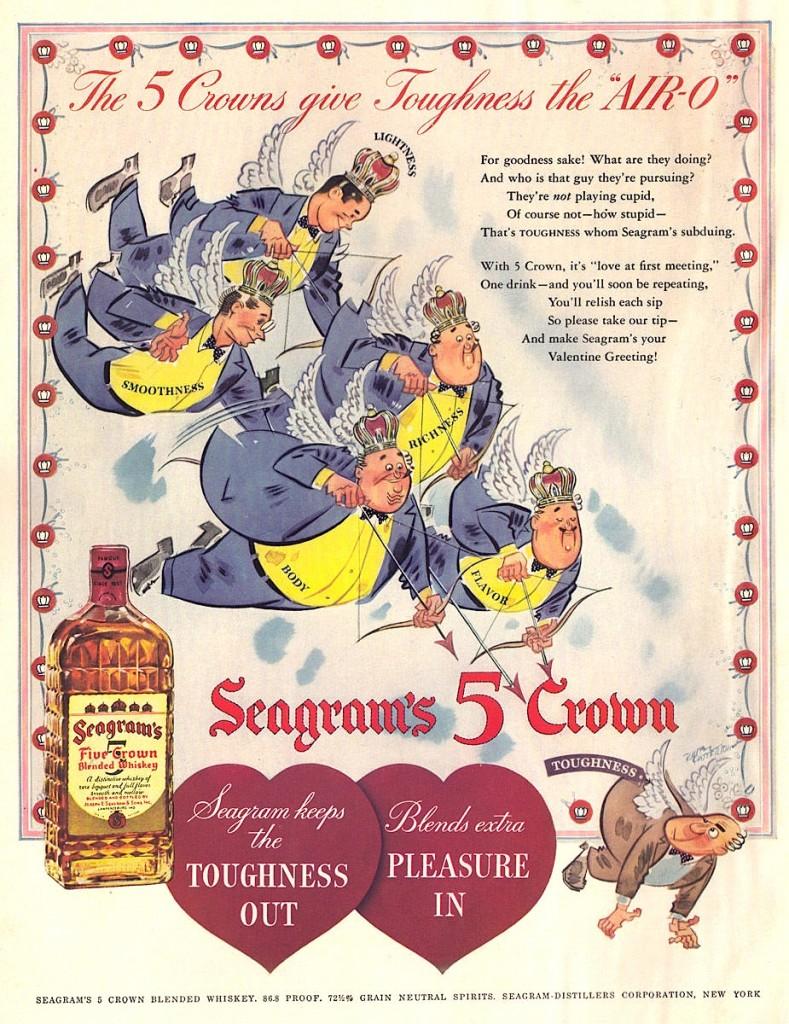 Seagrams 5 Crown Whiskey, 1942