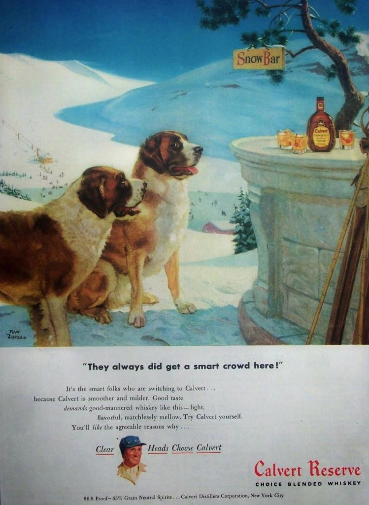 A 1948 ad for Calvert Whiskey.