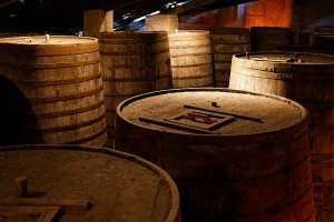 Cachaça barrels at Ypióca's museum, photo by Eric Gaba