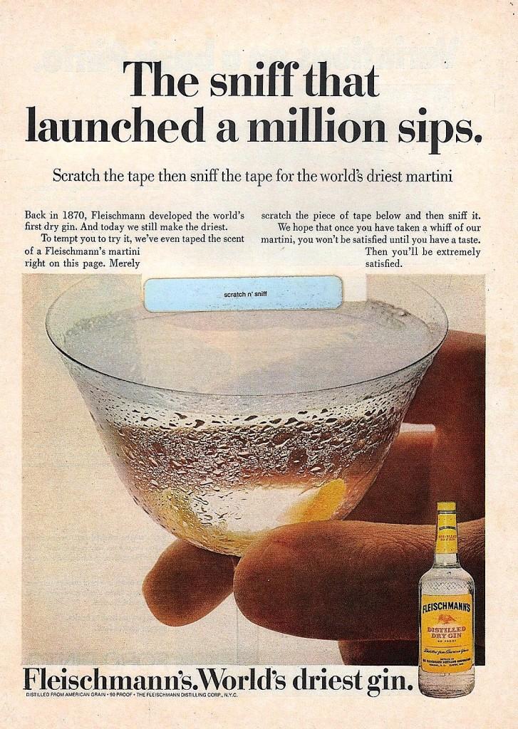 "A ""Scratch & Sniff"" ad for Fleischmanns, 1977"