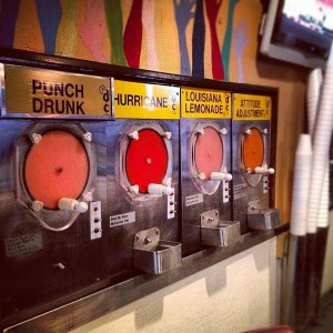 frozen daiquiri dispensers in Baton Rouge, LA, ctsy Corey Taratuta