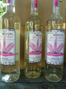 Mezcal Yuu Baal at the distillery in Oaxaca