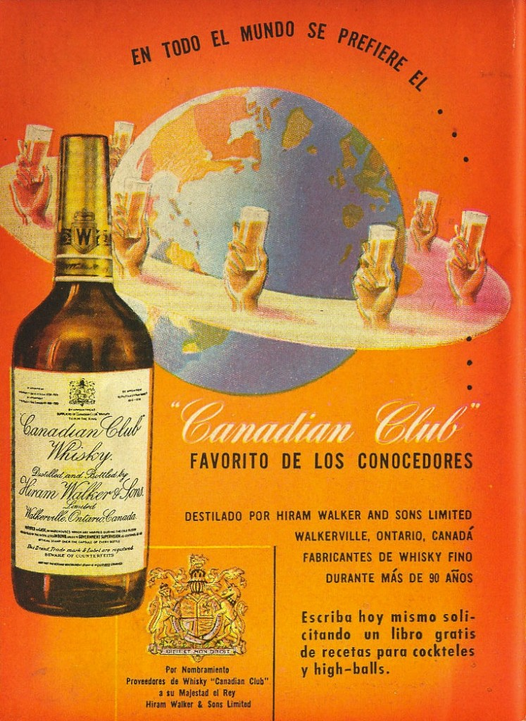 Canadian Club ad from Argentina, circa mid-1940s
