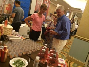 Ylva Binder with Mr. Cocktail promoting Rhuby at TOTC