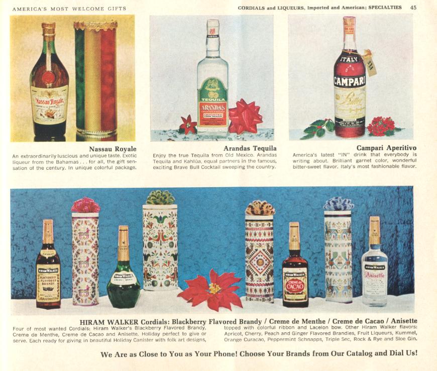 Liquor store catalog, 1966