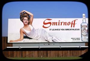 1963 Smirnoff billboard ctsy Vielles Annonces
