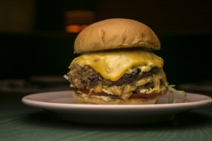 the burger at the Happiest Hour