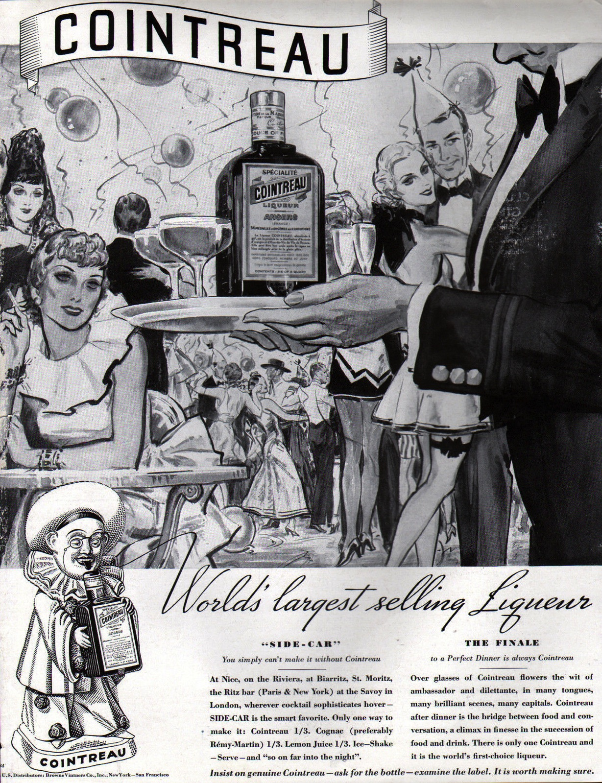 Vintage Ad Archive Here S To New Year S Alcohol Professor