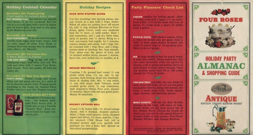 Four Roses brochure, circa 1960s