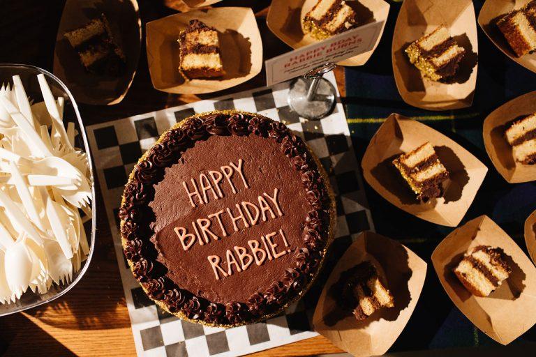 Laphroaig birthday cake by Butter & Scotch Brooklyn, photo courtesy Laphroaig