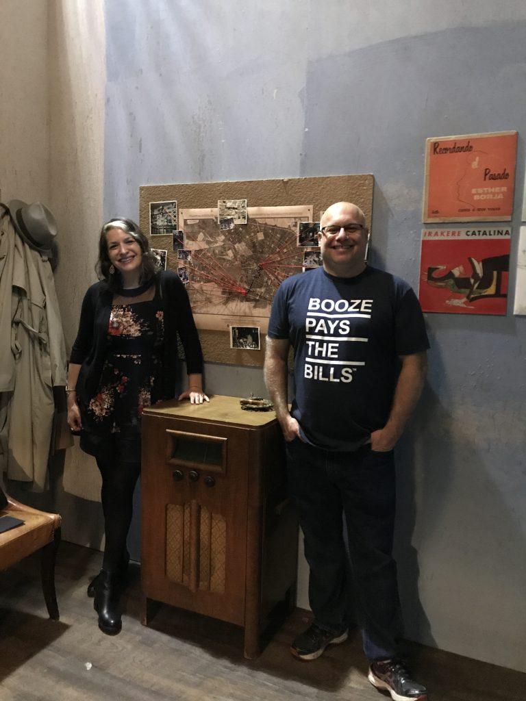 Amanda Schuster and Adam Levy behind the scenes at Bar Convent Berlin in October, 2017