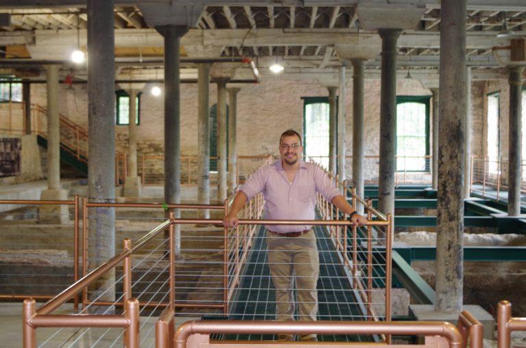 Nicolas Laracuente at Bourbon Pompeii tour at Buffalo Trace Distillery
