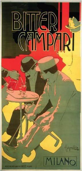 vintage Campari poster by Al Hohenstain
