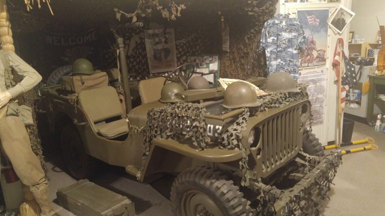 Army Jeep from WW 2 inside the Brewseum